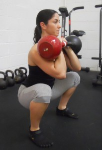 kb front squat